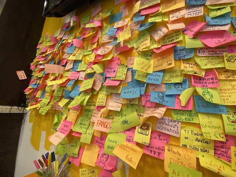 壁のメッセージ